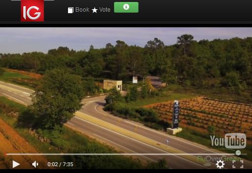 Barbaroux golf course video